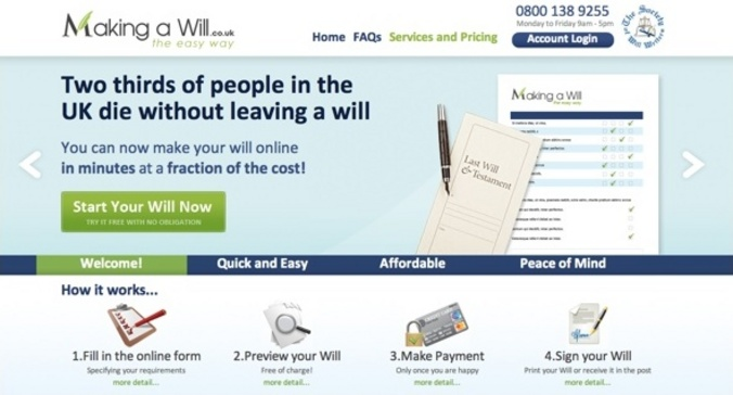 New Website Launched for Making A Will